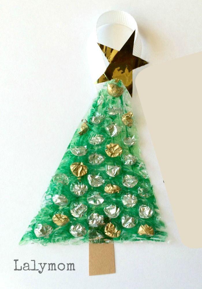 Easy Bubble Wrap Kid Made Christmas Ornament 119
