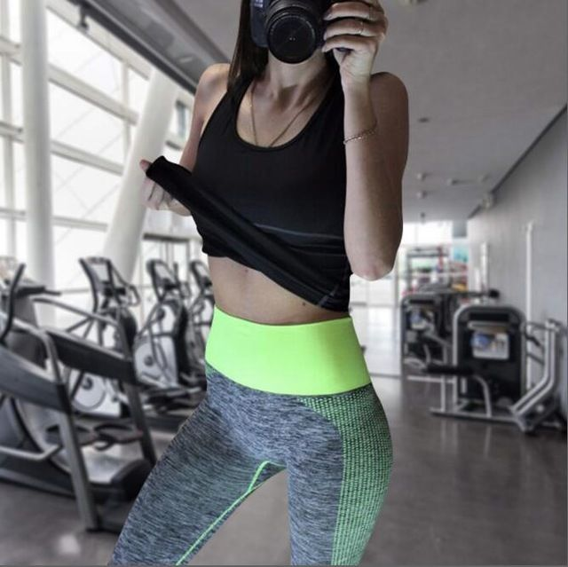 Great Deal $10.77, Buy Hot Sales Women Athletic Gym Yoga Clothes Running Fitness Clothing Stripe Sleeveless Sport Vest Pants Sets Sportswear For Women