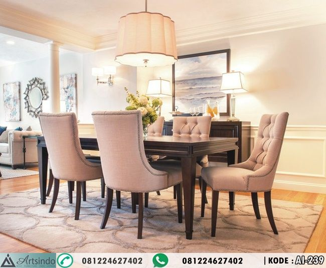 Set Meja Makan Elegan Klasik Minimalis AI 239 By Furniture Mebel Jepara Spesifikasi Kode Ethan Allen DiningTransitional Dining RoomsGrand
