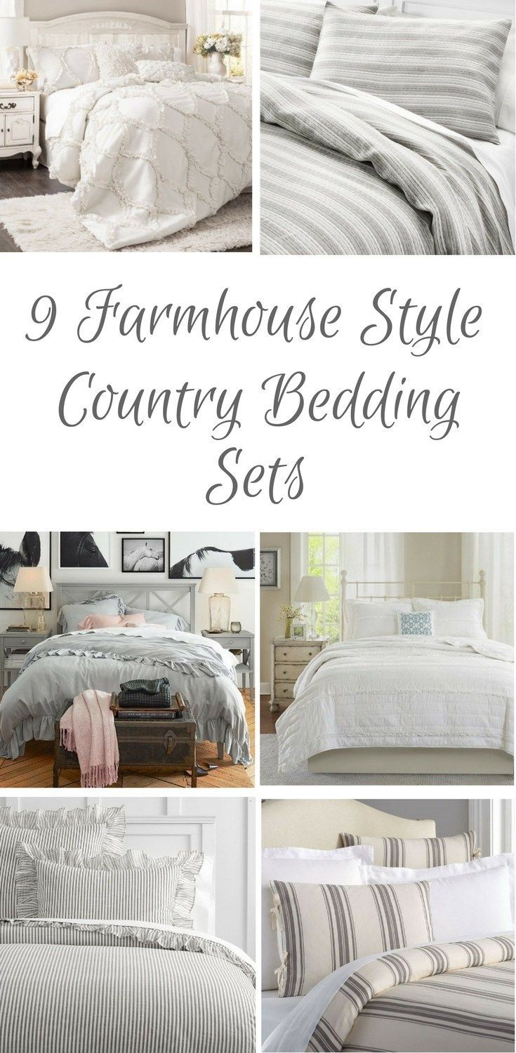 9 Farmhouse Style Country Bedding Sets The Scoop For Mommies Country Bedding Sets Farmhouse Bedding Sets Bedding Sets Master Bedroom