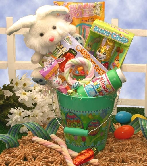 11 best easter gift baskets images on pinterest easter gift happy easter gift pail 4599 sing along here comes peter cotton tail hopping down negle Gallery