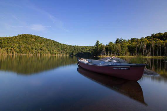 @InShoesOfM: Canoe Photography Still Life Lake Print Boat Art Boat