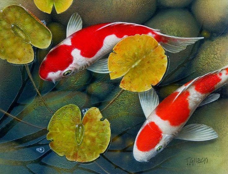 Pintura de peces abstractos modernos recherche google for Pintura para estanques