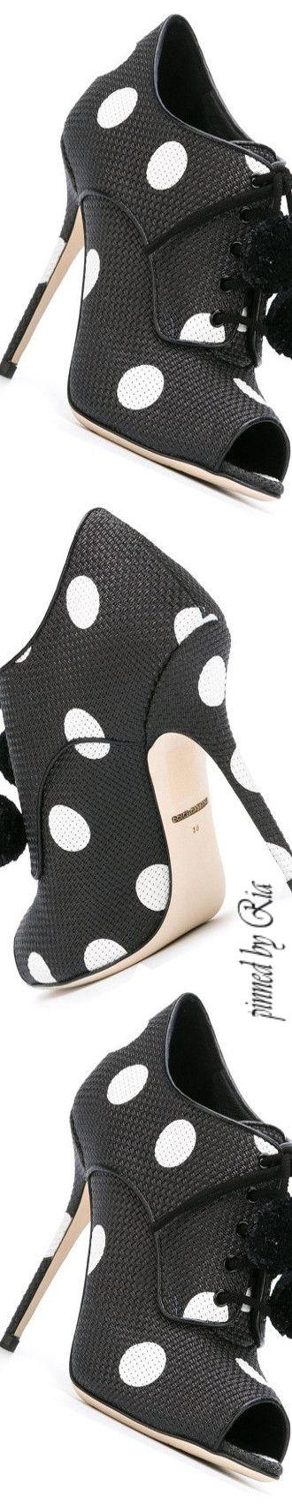 Dolce & Gabbana Polka Dot Open-Toe Pump l Ria@michaelsusanno@emmaruthXOXO@emmammerrick@emmasusanno#STILETTOS~PUMPS~HEELS