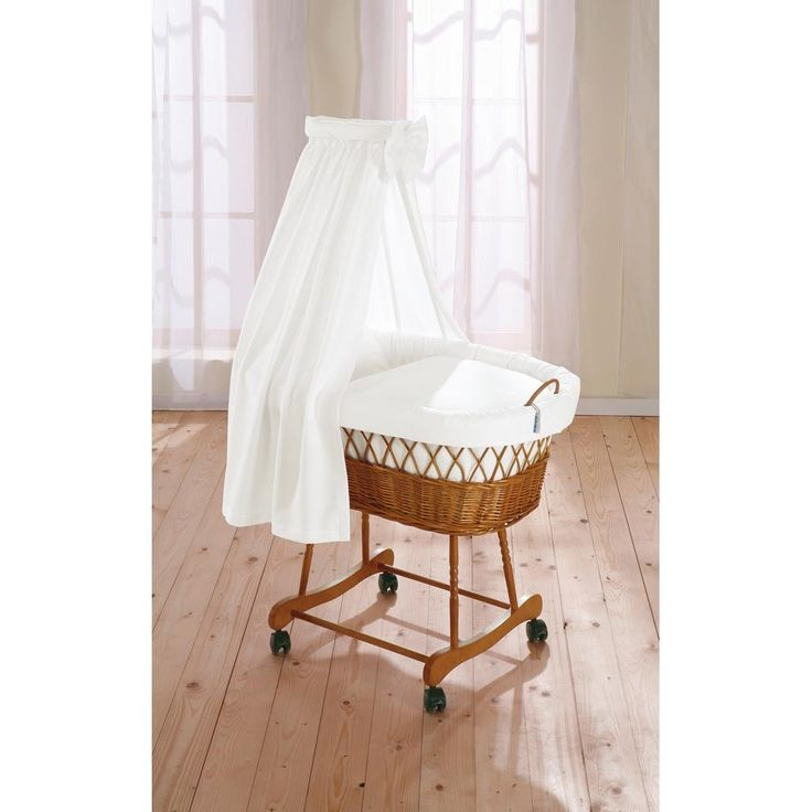 Natural Wicker Drape Crib in 'Wendy' - Moses, baskets & cribs - Accessories