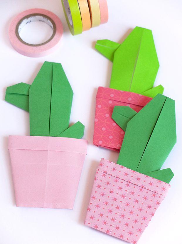 Bluebells Design - Cactus di carta colorata
