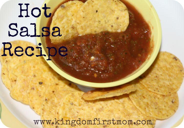 Fresh hot-salsa-recipe. Love me some spicy stuff!
