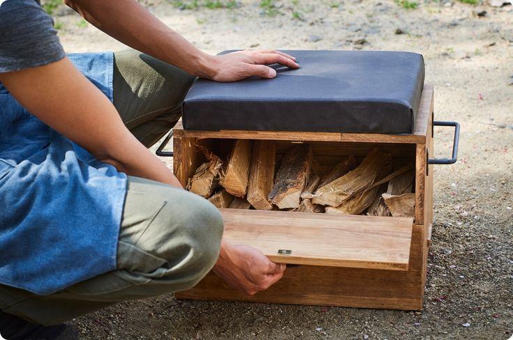 DIY camping gear! Box-type multifunction ottoman