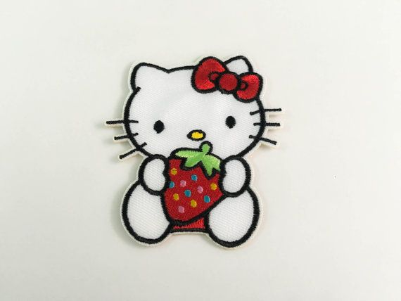 Hello kitty&strawberry iron on patch l2 hello kitty cartoon