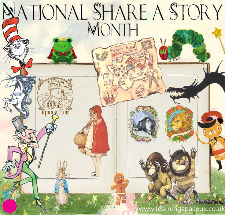National Share-a-Story Month! #Children #Book #Story #Imagination
