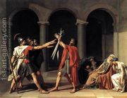 The Oath of the Horatii 1784  by Jacques Louis David