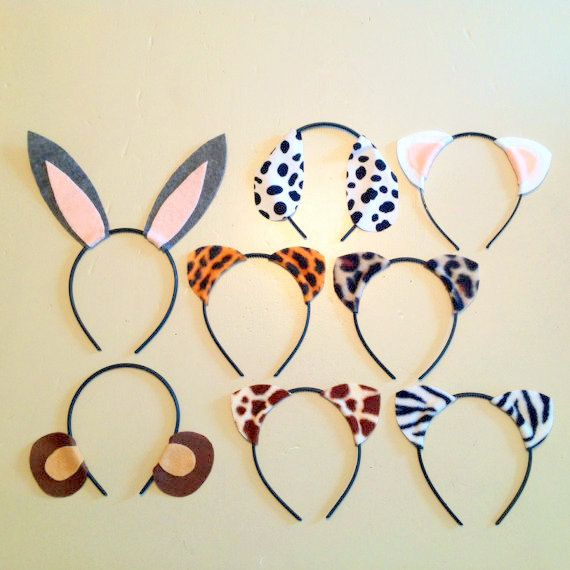 8 quantity Animal Theme Ears birthday party favors Littlest Pet Shop or Animal Jam party costume photo booth prop dress up