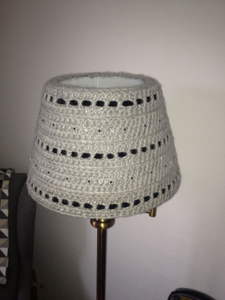 Another crocheted lampshade.