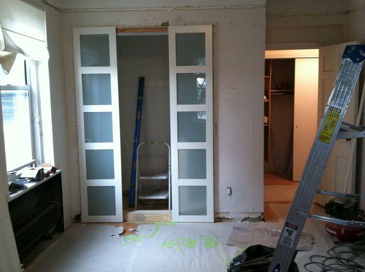 Bedroom closet w Ikea doors on | Interiors | Pinterest
