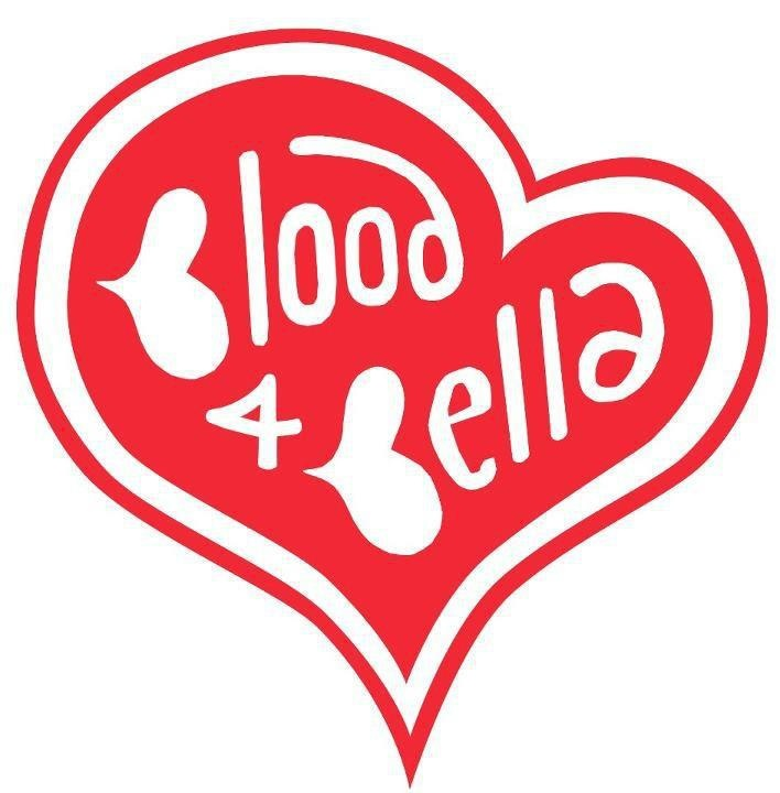 Logo made for a campaign to get people to donate blood - Sara needed 50 units of blood to save her life when baby Bella was born. Visit the blood service website to see where you can donate blood in your area: Logo, Baby Bella