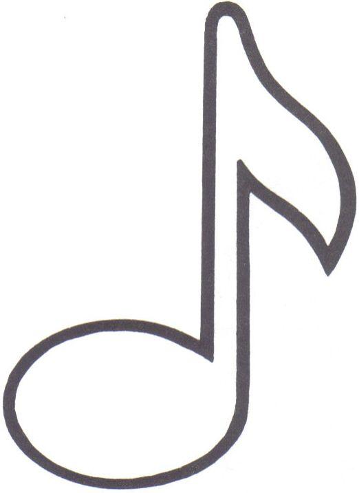 Картинка шаблон ноты