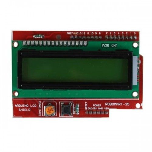 Usually LCD utilized for display is 2x16 including various push buttons. The arduino LCD keypad shield maintains contrast adjustment and backlit on/off functions. #Arduinolcdshield available at Robomart at best prices.