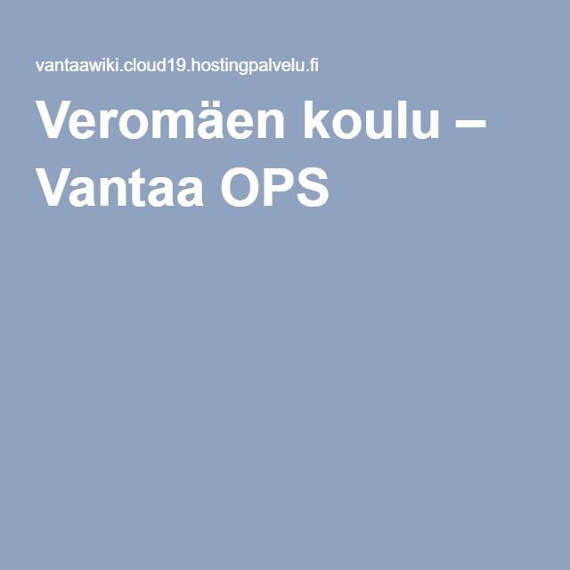 Veromäen koulu – Vantaa OPS