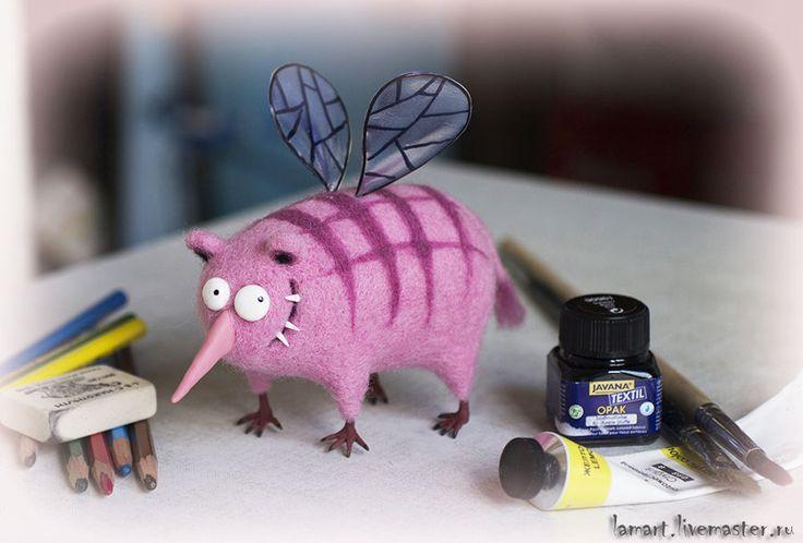 Купить Блажь - розовый, существо, странный, животное, сказочные существа, интерьерная кукла, интерьерная игрушка