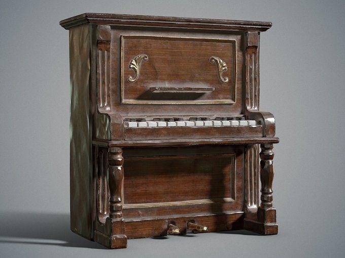 Dusty piano by Izat Abdraimov on @creativemarket