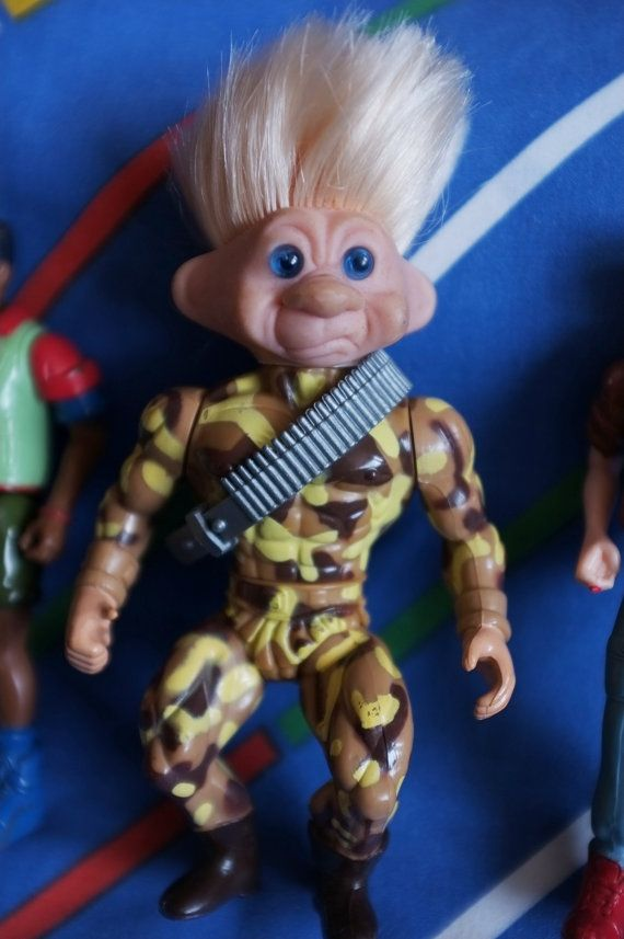 Vintage Troll Force TNT Toys N Things Army man by LittleToyLost