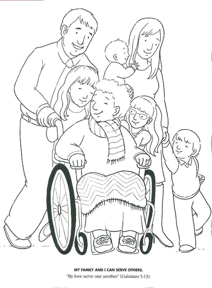 Children Helping Others Coloring Pages Helping Others Drawing At Paintingvalley Lds Coloring Pages Coloring Pages Family Coloring Pages