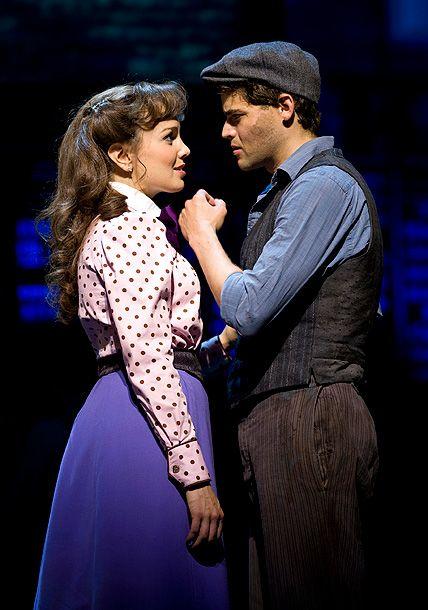 Jeremy Jordan and Kara Lindsay - Best Musical Nominee, NEWSIES