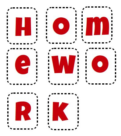Whole class homework incentive - Pin the letters face down onto a board.  When the whole class brings in their completed homework, turn a letter around.  Once the word homework can be fully seen as a class vote on a reward. Freebies