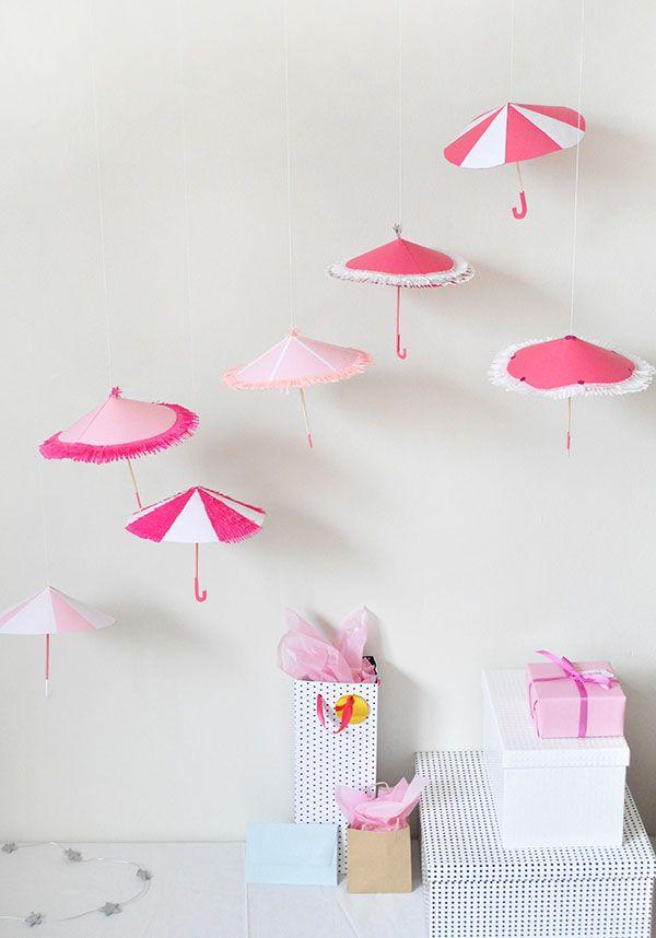 Shower Umbrella Decor | Oh Happy Day!