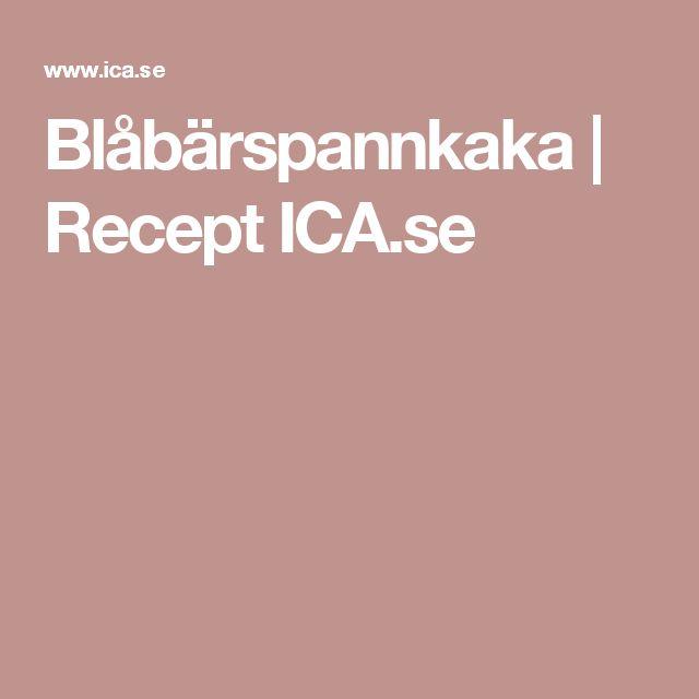 Blåbärspannkaka | Recept ICA.se