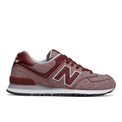 574 New Balance Men's 574 Shoes - Red/Grey/White (ML574TXG)