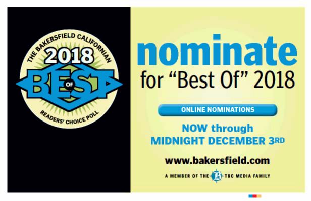 """It's time again to nominate your favorite people, places and businesses for the Best of Kern County poll, including nominations for the """"Best Lawyer"""" and """"Best Law Firm."""" To nominate, visit bakersfield.com, and look for Chain 