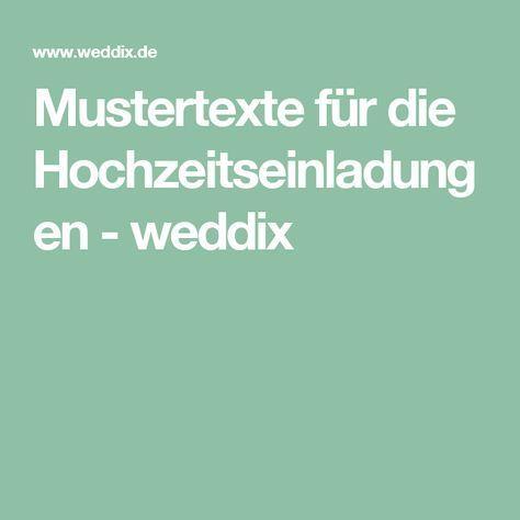 Mustertexte für die Hochzeitseinladungen - weddix
