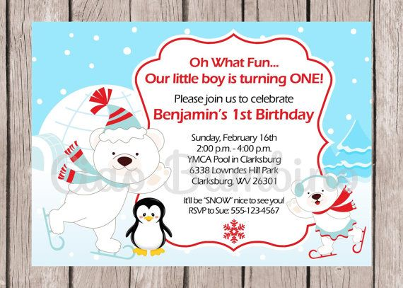 142 best winter onederland party images on pinterest | winter, Party invitations