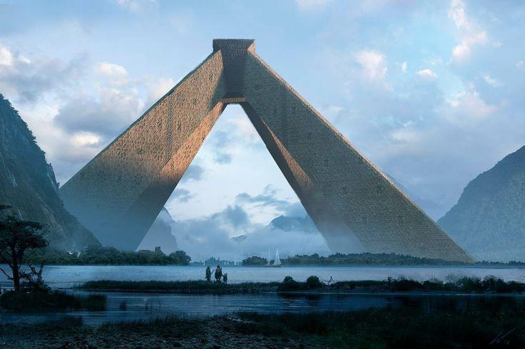 """""""The God Temple of Hope"""", Espen Olsen Sætervik on ArtStation at https://www.artstation.com/artwork/yZWqQ"""