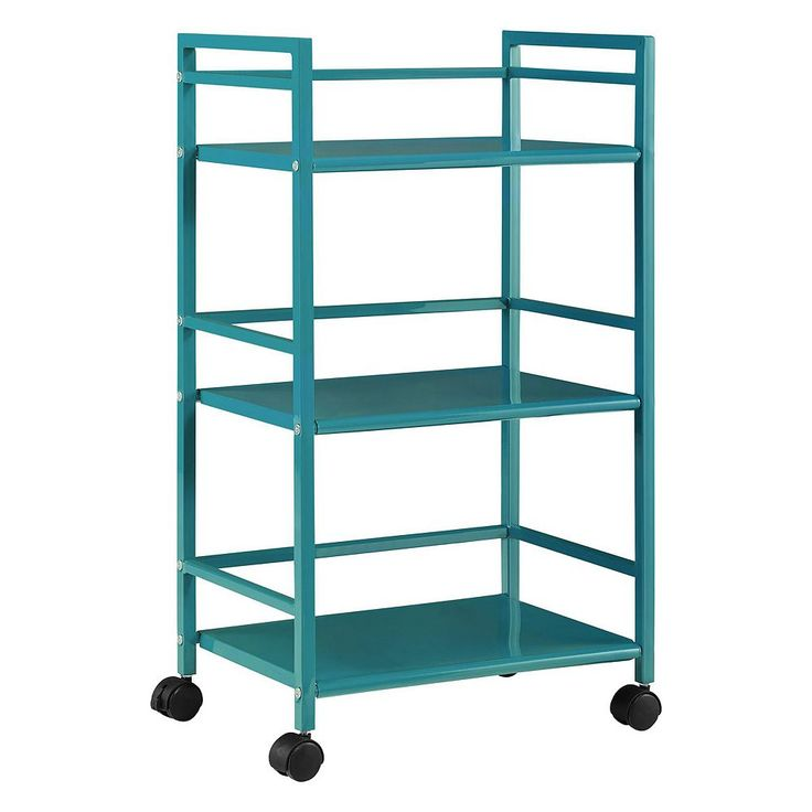 Altra Marshall Metal Rolling Utility Cart, Blue