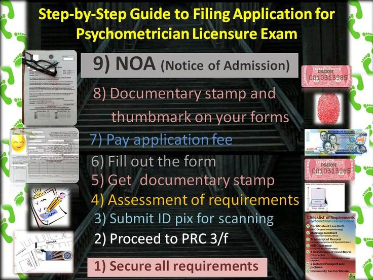 Step-by-Step Guide in Filing application for Psychometrician Licensure Exam