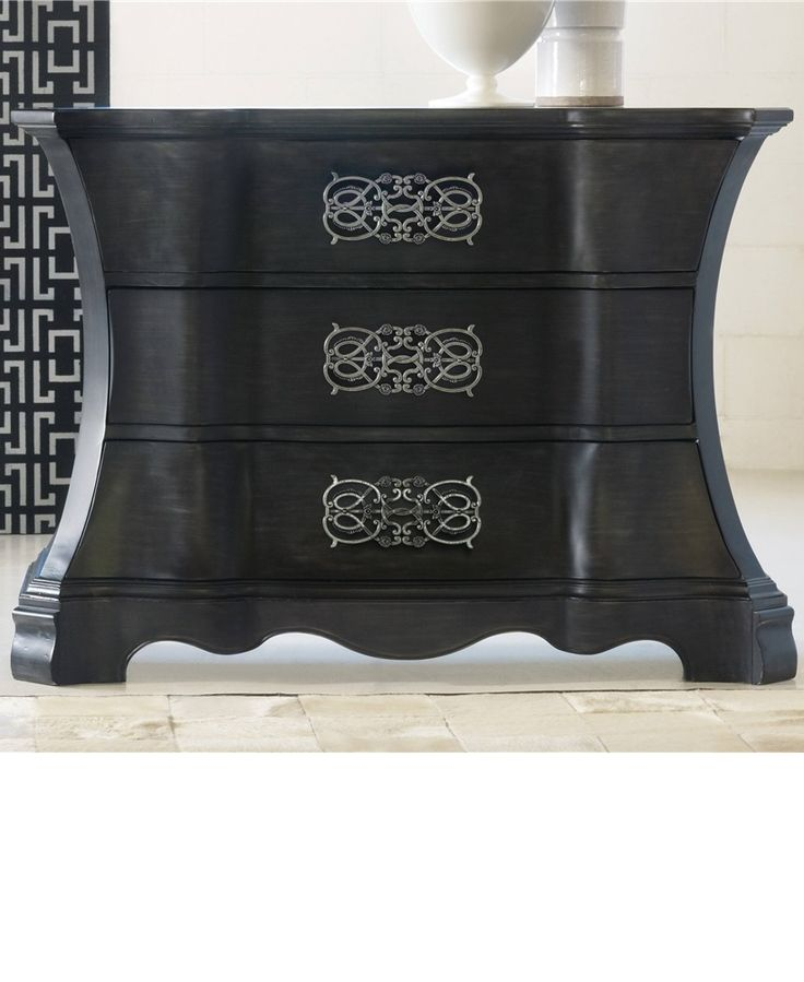 A beautiful silhouette and great hardware makes this chest a great accent piece.