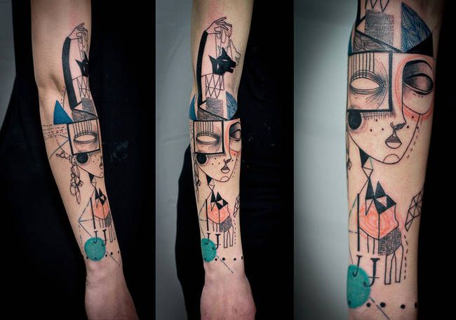 Artist Duo Puts A Modernist Spin On The Art Of Tattooing