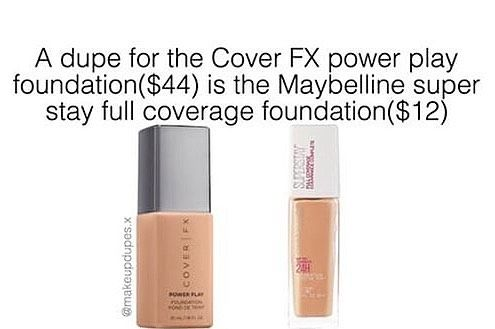 here's a dupe for the Cover FX power play foundation!🙌🏼✨ these