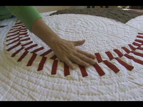 Shari teaches you how to sew a baseball quilt.  Need to do this!