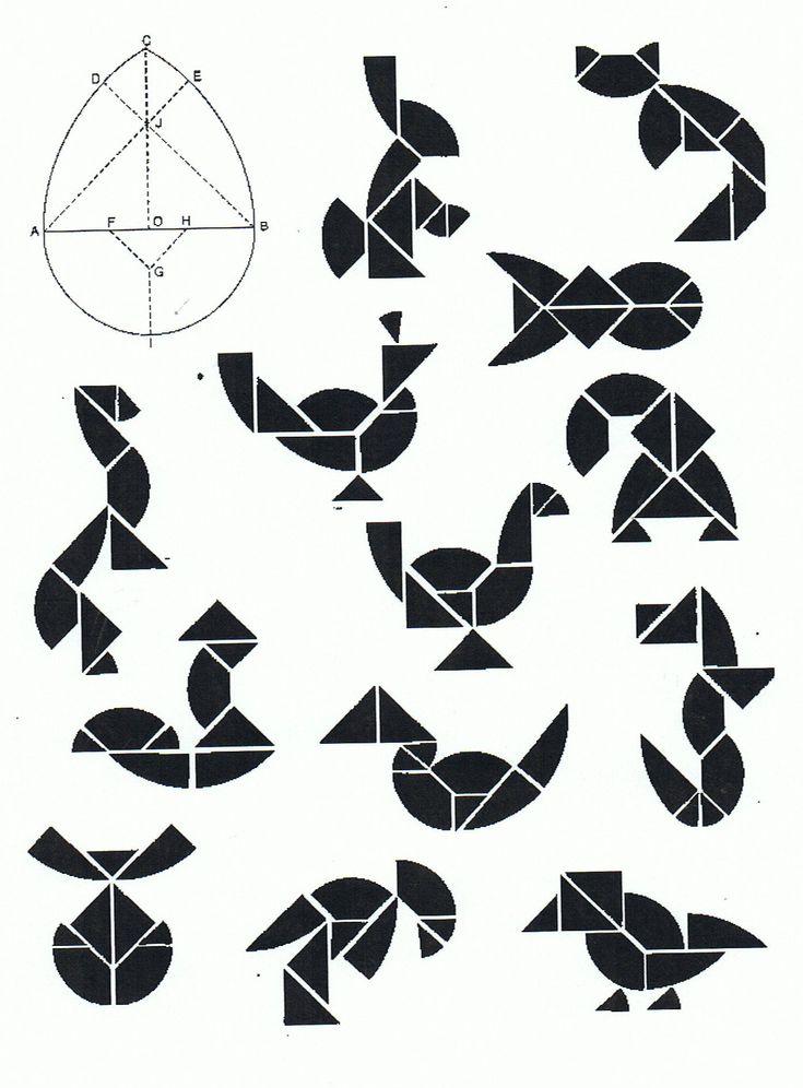 tangram de Pâques easter tangram