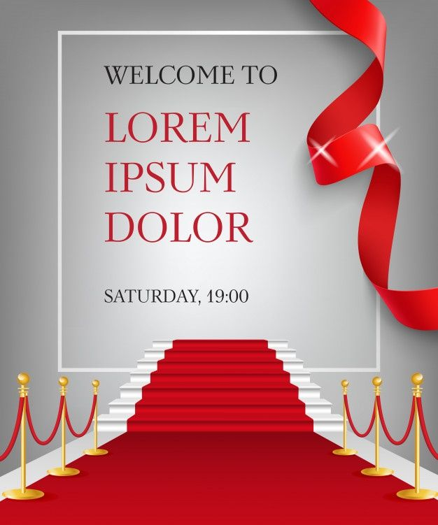 Download Welcome To Lettering With Red Carpet Entrance For Free Red Carpet Invitations Red Carpet Invitations Template Party Invite Design