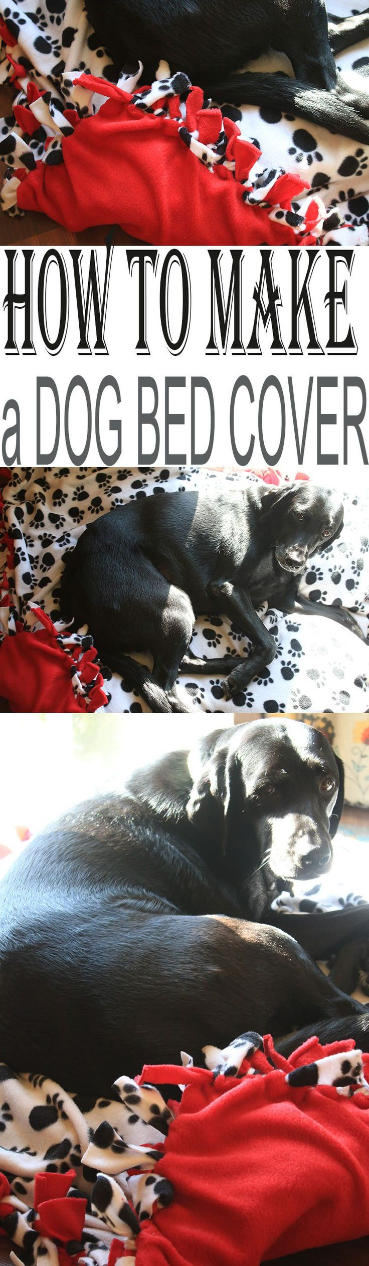 Learn How to Make a No Sew Dog Bed Cover - a super easy way to show your pet you care! #ToPetsWithLove #ad