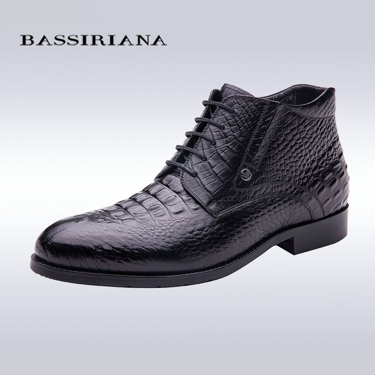 BASSIRIANA high quality men shoes for winter Genuine Full Grain Leather 39-40 men shoes luxury brand shoe Free shipping