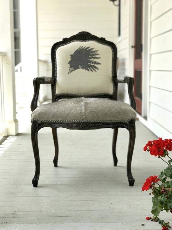Weatern Furniture Pendleton Fabric Accent Chair Etsy Furniture