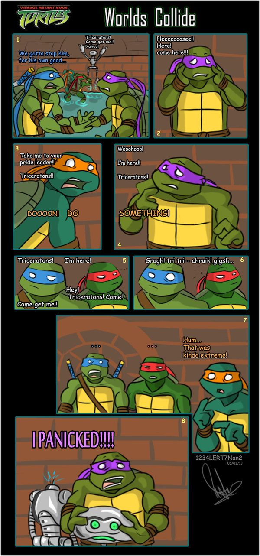 TMNT 2003 COMIC Worlds Collide by 1234LERT7Nan2.deviantart.com on @deviantART