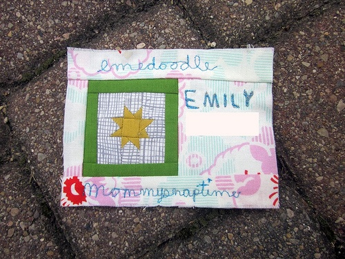 my name tag from the sewing summit!