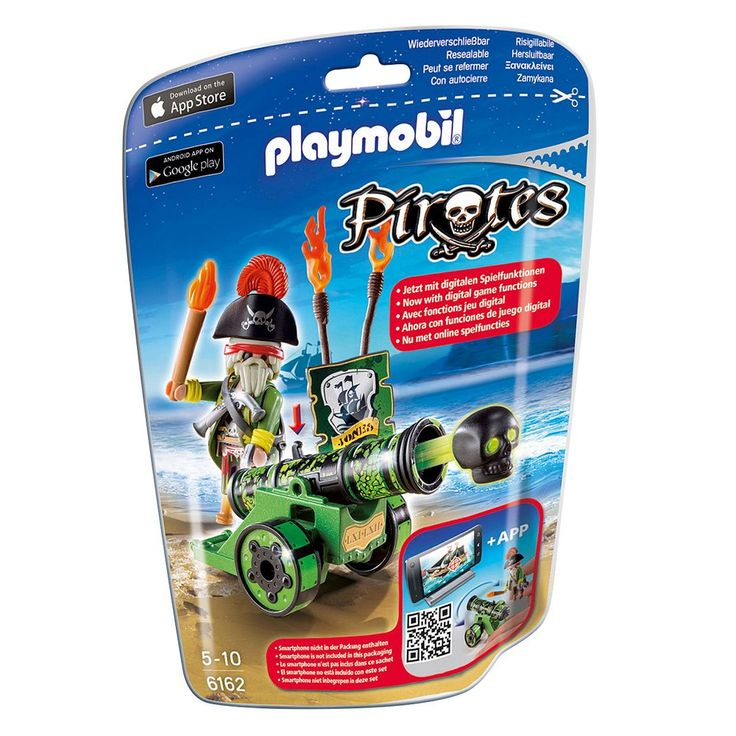 Playmobil Pirates Green Interactive Cannon With Pirate Captain - 6062