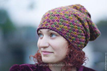 """Комплект """"Коловорот"""" - абстрактный,шапка,шапка вязаная,шапка женская,осень"""
